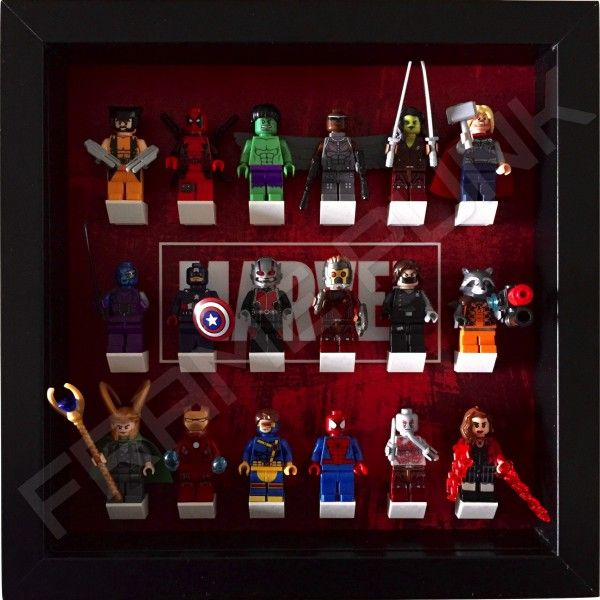 Lego Marvel Display Frame (black) With Minifigures. | MARVEL and DC ...