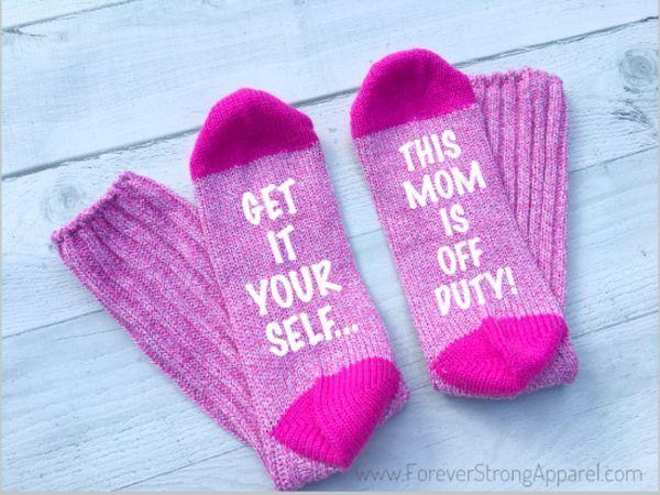 Funny Mom Socks #stockingstuffersforadults