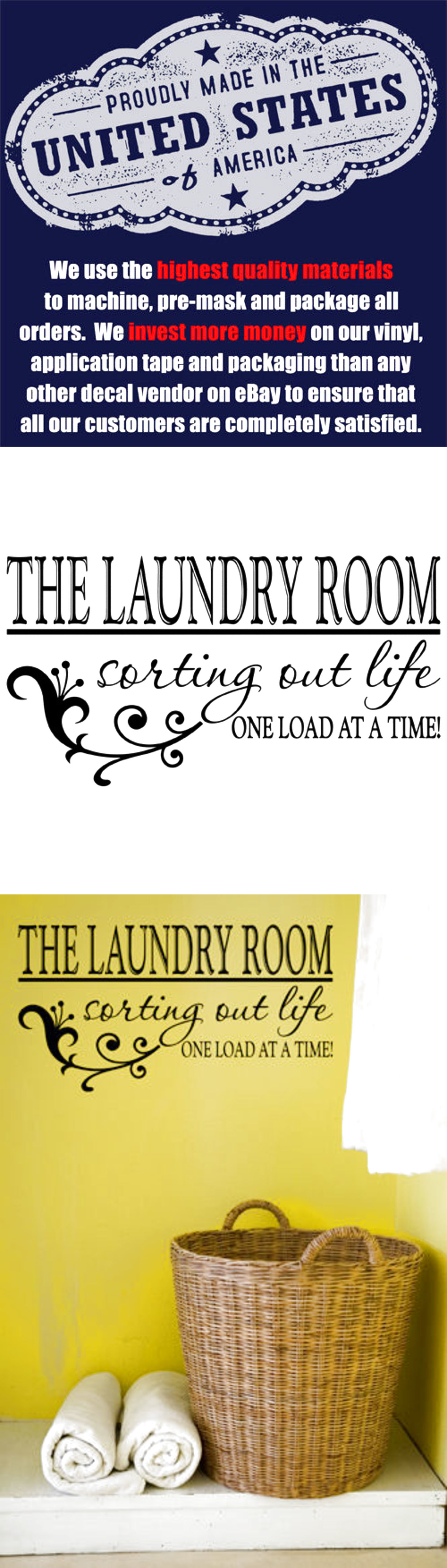 Fine Laundry Room Vinyl Wall Art Photos - The Wall Art Decorations ...