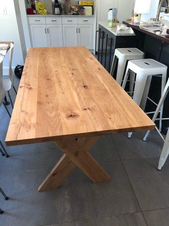 For Sale Is A Beautifully Handcrafted Dining Table Measuring 72