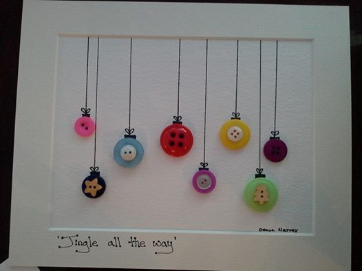 Button Baubles, lovely Christmas gift