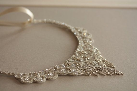 Millie ICARO Statement Bridal necklace beaded bridal bib necklace