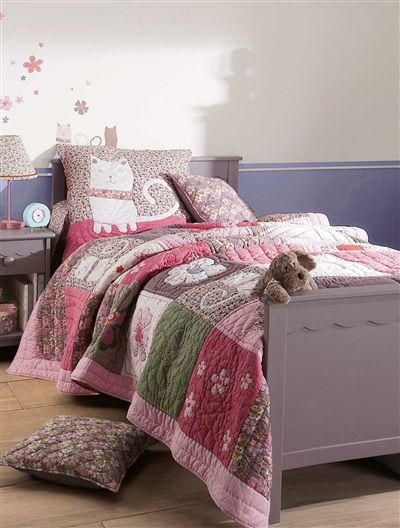 tagesdecke im patchwork style rosa toll f r kinder pinterest tagesdecken patchwork und rosa. Black Bedroom Furniture Sets. Home Design Ideas