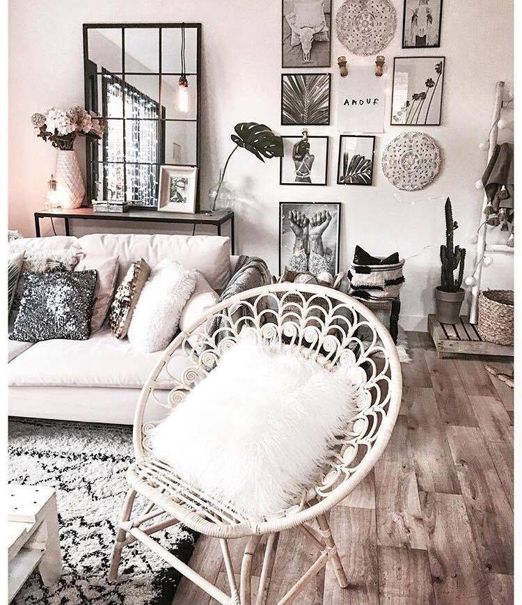 Home Design Tendance Salon Cosy Ton Clair Parquet Et éléments De
