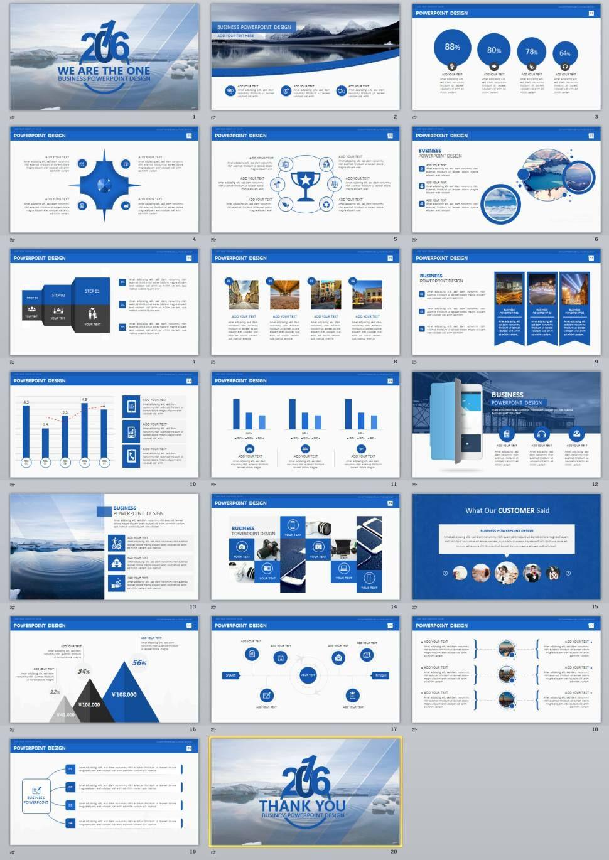 Blue Premium Powerpoint Presentation Templates  Powerpoint