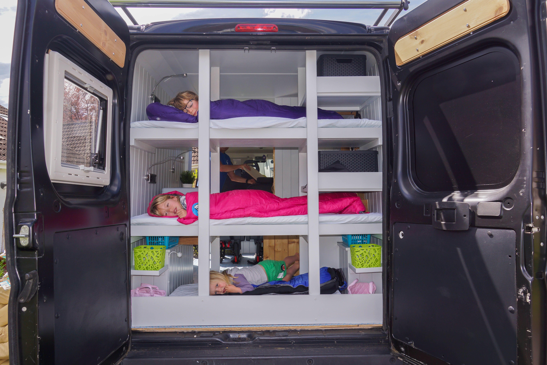 Peugeot Boxer 5 Berth Self Build With Images Camper Van
