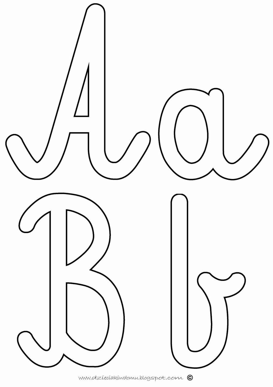 Szorstkie Literki Alfabet Przedszkole Szablony