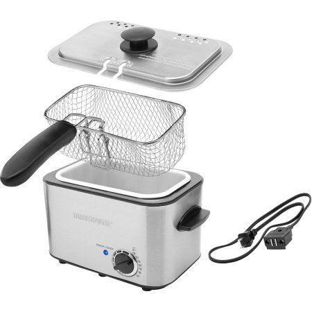 Farberware 1 1 Liter Stainless Steel Deep Fryer With Dishwasher Safe Basket Lid Handle Walmart Com Farberware Dishwasher Safe Stainless Steel