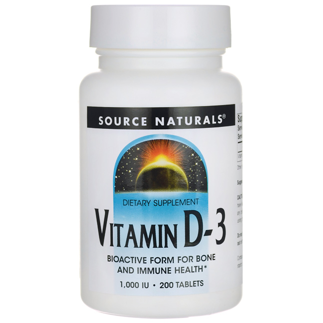 Vitamin D3, 1,000 IU 200 Tabs AED158.00 #UAESupplements