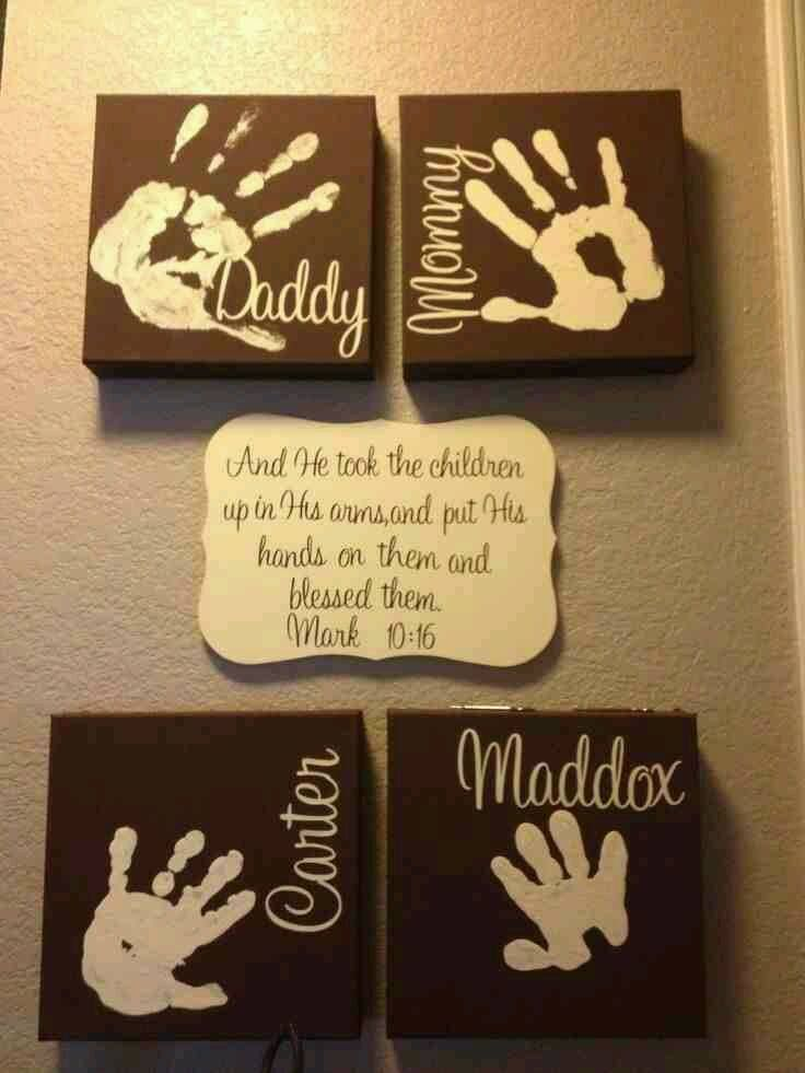 Hand Prints with bible verse.