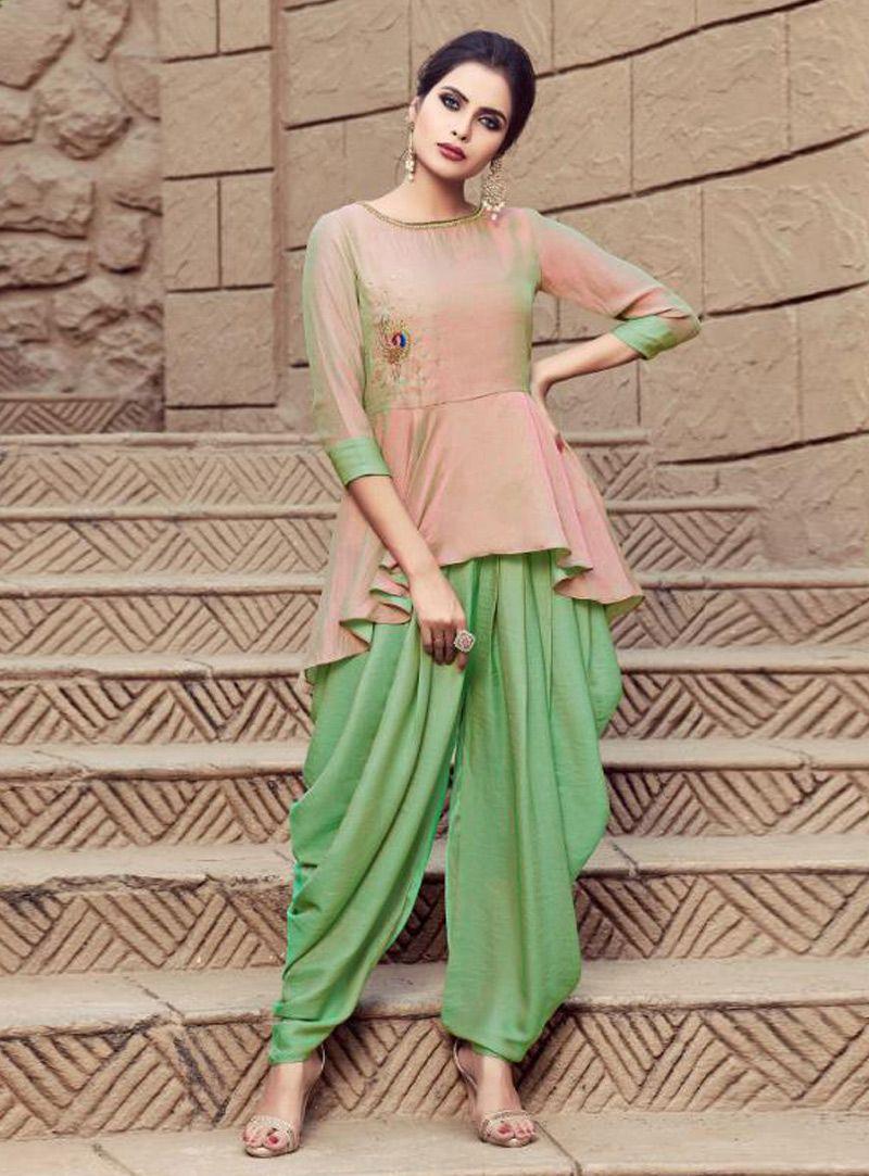 b4cd92c4ac5c6 Buy Light Pink Satin Designer Suit 148888 online at lowest price from huge  collection of salwar kameez at Indianclothstore.com.