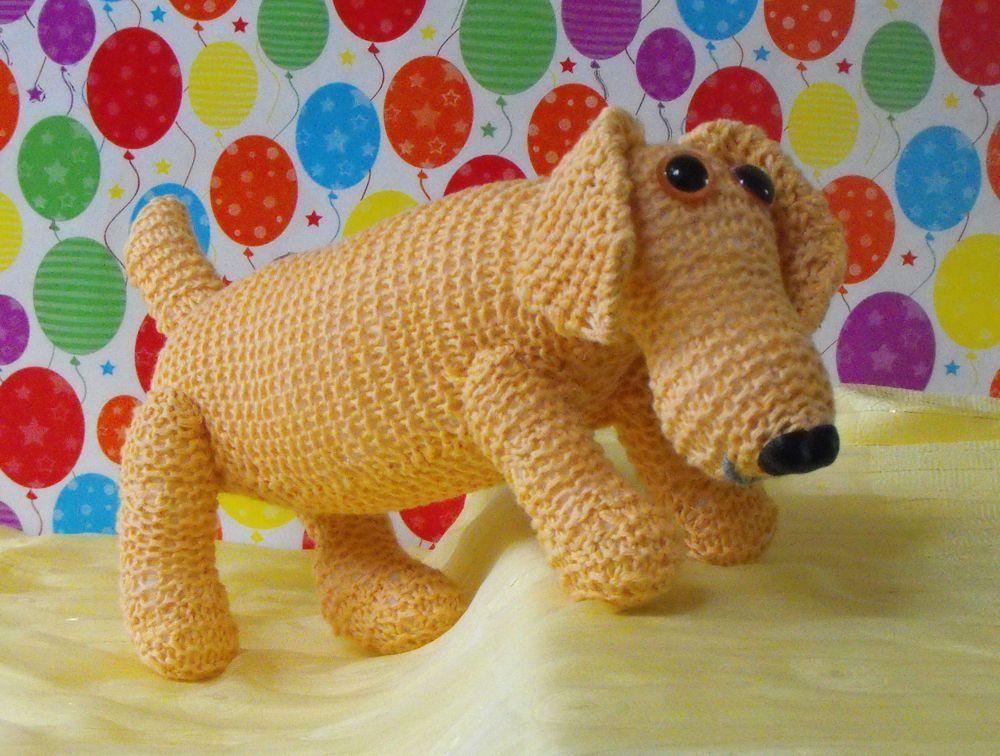 Madmonkeyknits Toy Knitting Patterns Sausage Dog Rachs Crafty
