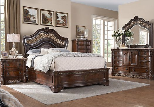 Handly Manor Pecan 7 Pc King Panel Bedroom | New House in ...