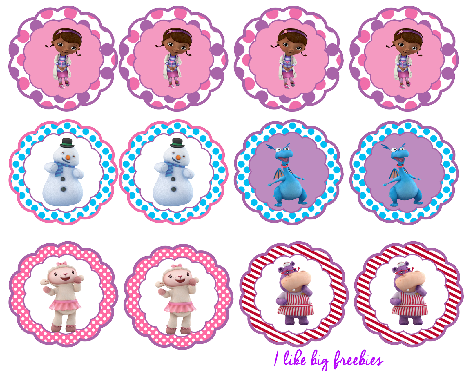 Free Doc Mcstuffins Party Printables Cupcake Toppers And