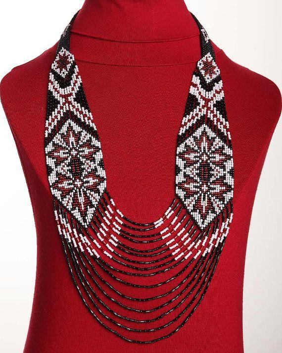 Traditional Ukrainian Folk Handmade Glass Beads by koraliky, $47.30