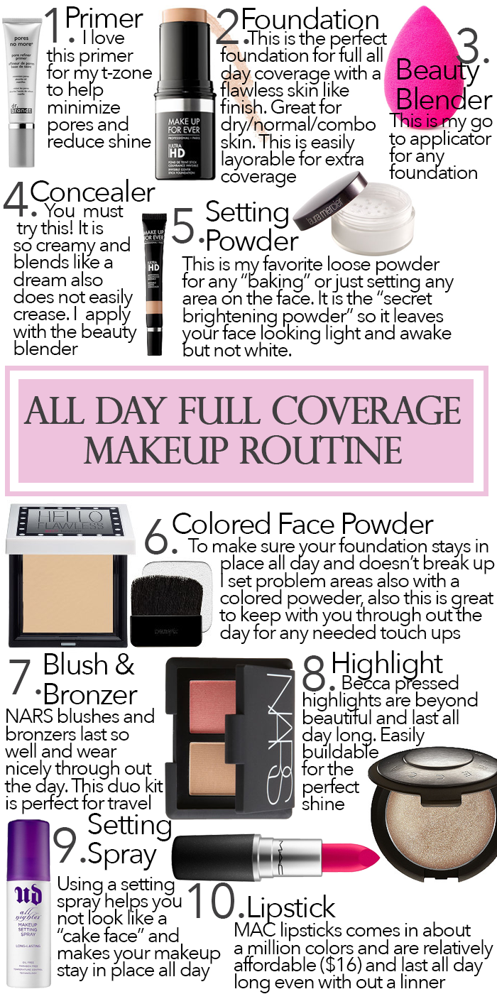 All Day Full Coverage Makeup Routine #style #shopping #styles #outfit #pretty #girl #girls #beauty #beautiful #me #cute #stylish #photooftheday #swag #dress #shoes #diy #design #fashion #Makeup