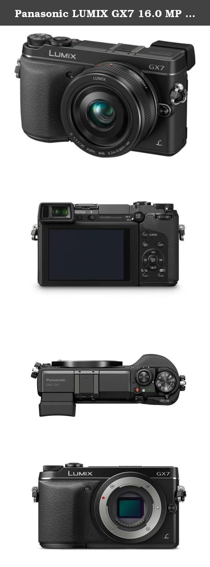 Panasonic Lumix Gx7 160 Mp Dslm Camera With G 20mm F17 Ii 25mm Asph Lens And Tilt Live Viewfinder Black The Dmc Mirrorless Micro