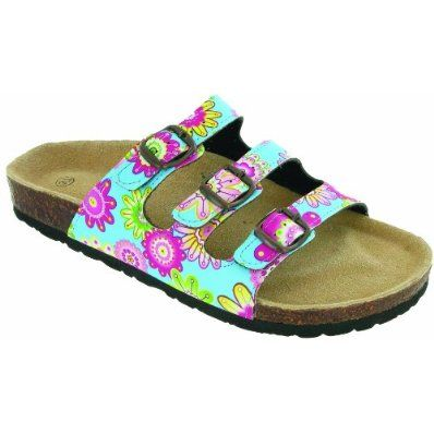 Divaz Womens Sandals Mai Mule with Psychedelic Floral print - £18.99