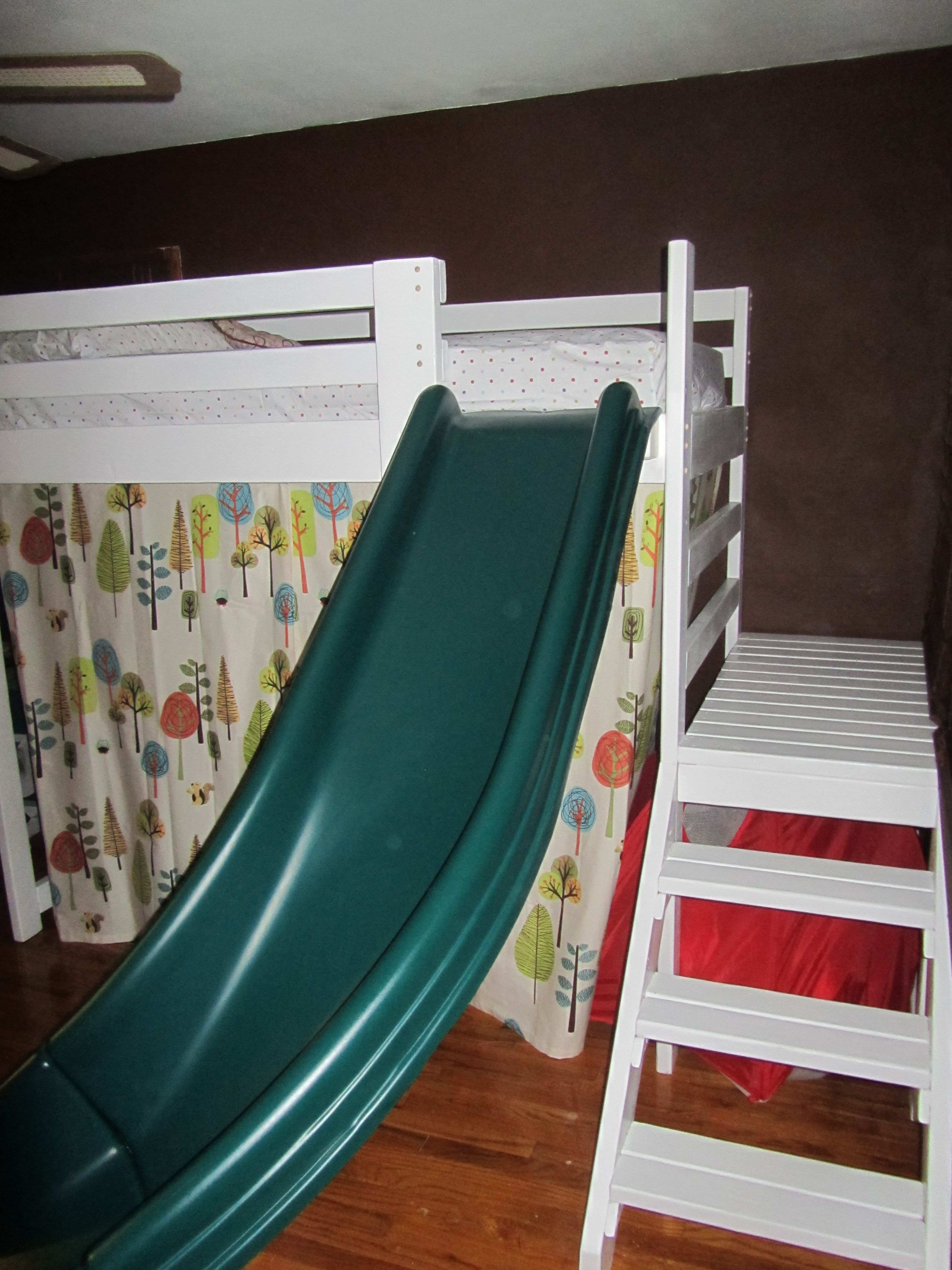 I Like The Steps And Slide At End Of The Bed Kids Bed Ideas Camp