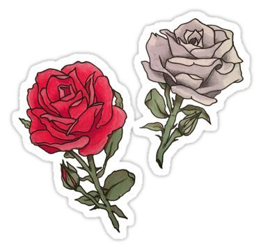 Red And White Roses Sticker By Gracerae Products Pinterest
