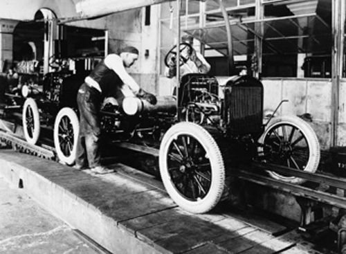 The Idea Of An Assembly Line To Build Cars Came To Ford When He