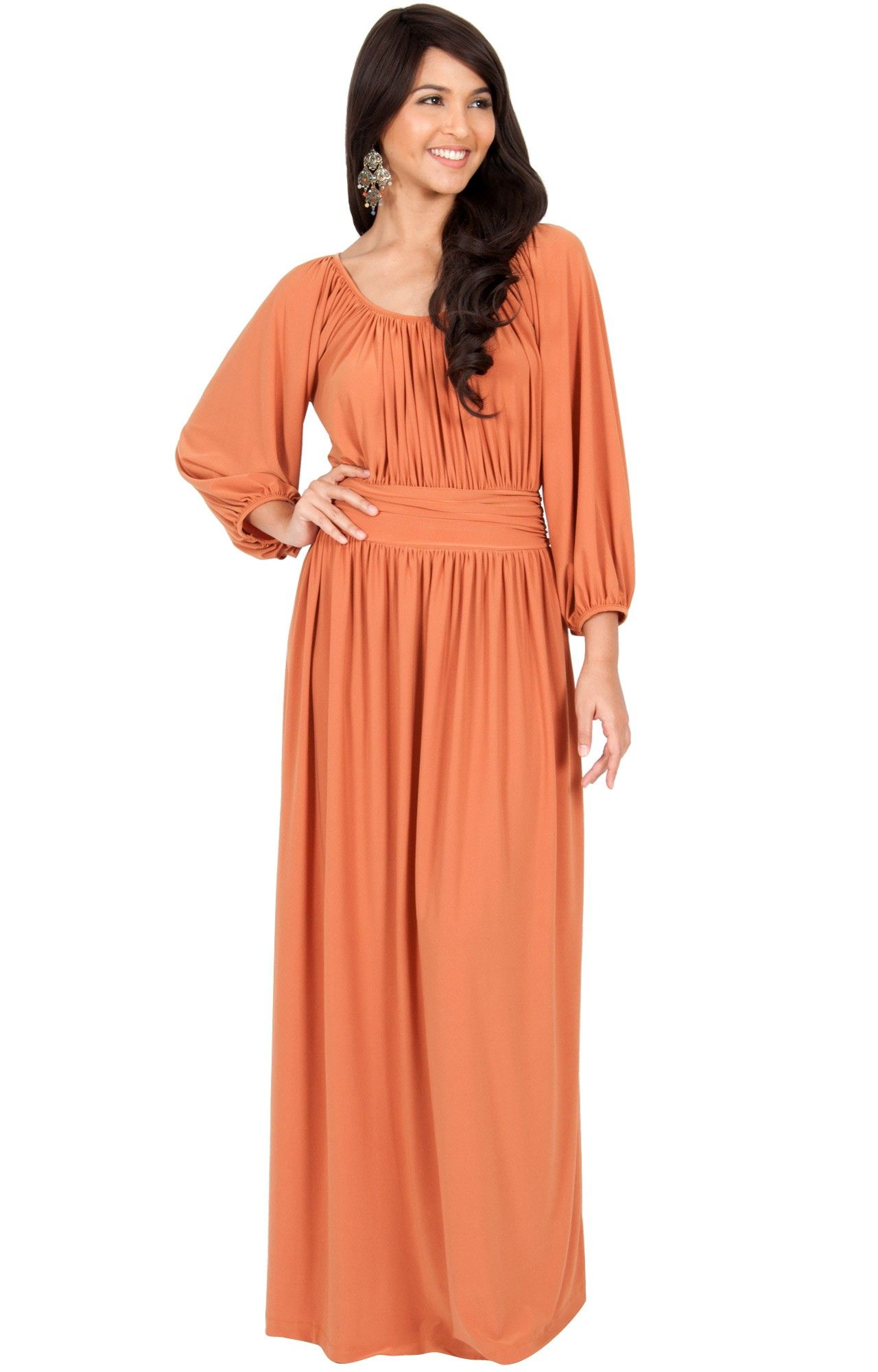 Franny Long Sleeve Peasant Casual Flowy Fall Modest Maxi Dress Gown Comfortable Maxi Dresses Modest Maxi Dress Maxi Dress Cocktail [ 2000 x 1280 Pixel ]