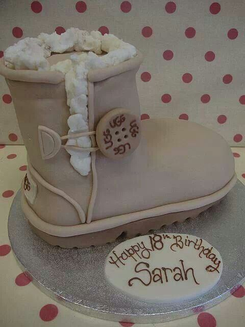 Ugg boot cake created by Richards Cakes in England