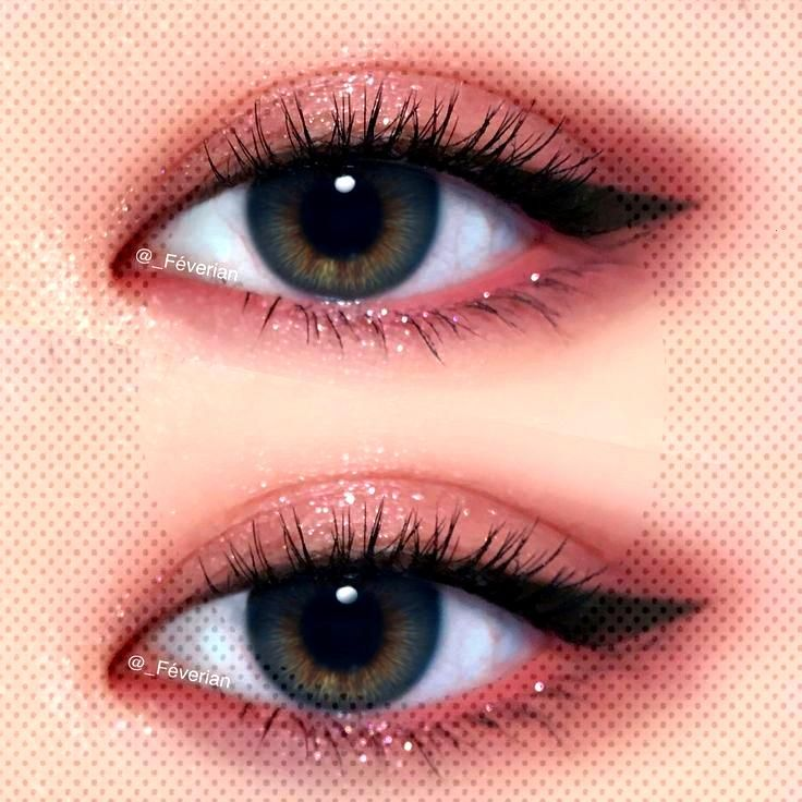 shimmery pink eye makeup w/ winged liner @_feverianYou can find Maquillaje and more on our immery p