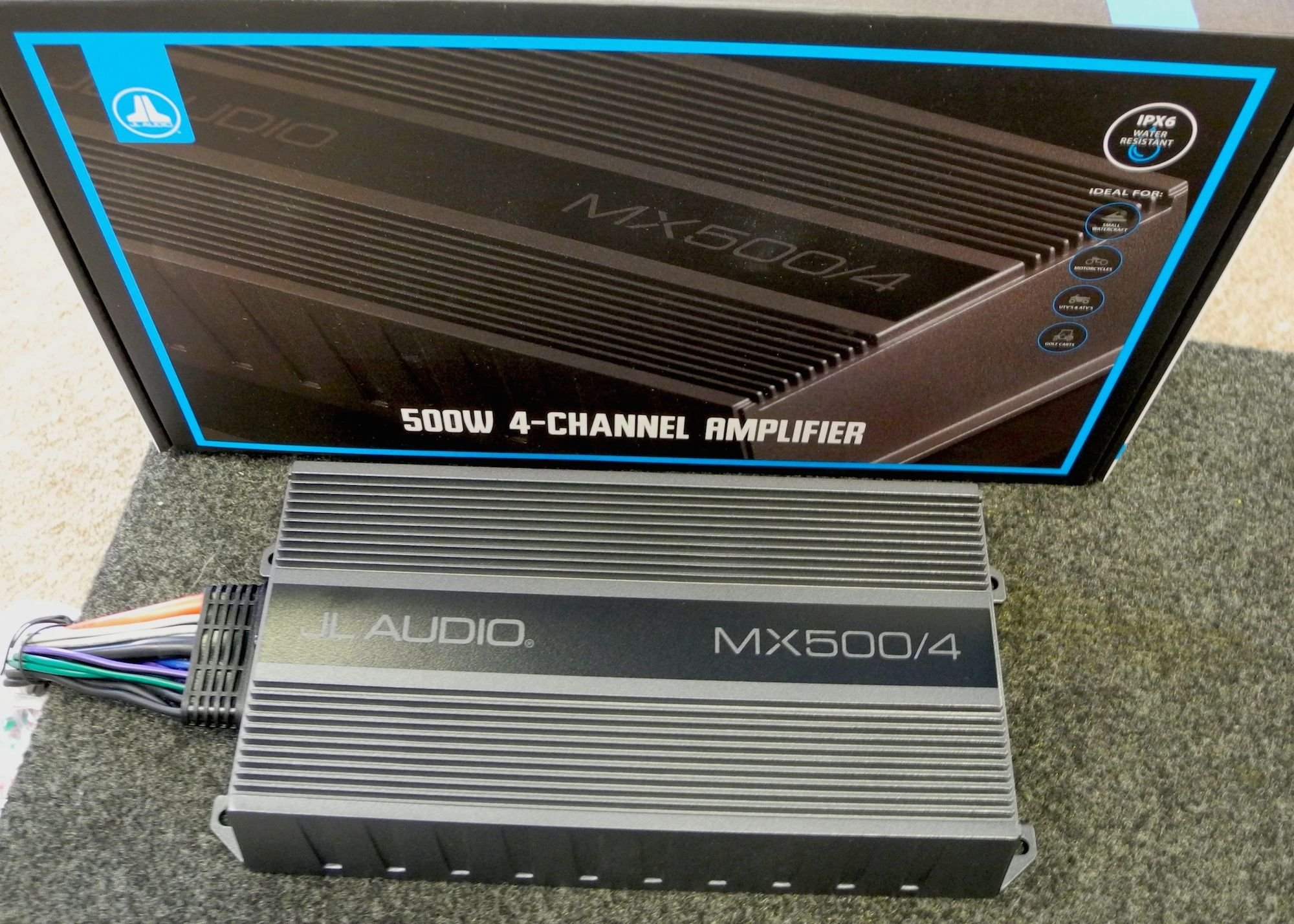We Just Received Our First Shipment Of Jl Audio S Brand New Mx500 4 Powersport Amplifiers Ideal For Motorcycles Atvs And Other Util 4 Channel Ipx6 Amplifier
