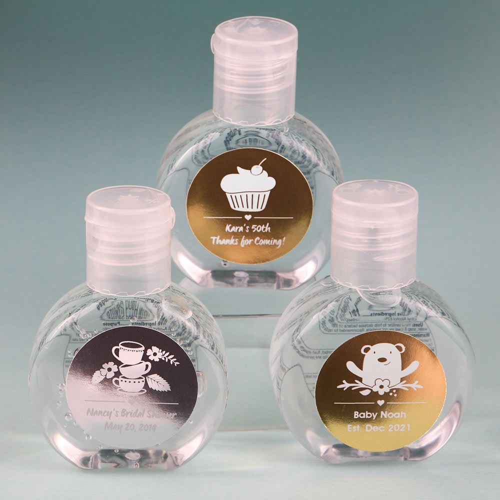 Personalized Metallics Hand Sanitizer Favor Hand Sanitizer Food