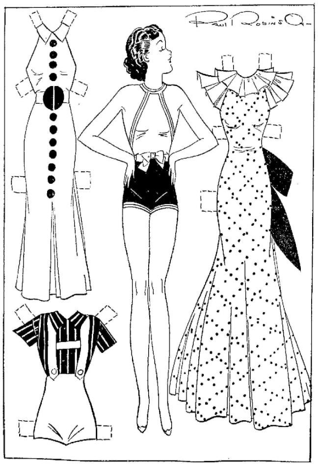 etta kett final fashions for your paper doll cut outs arielle gabriel paper dolls black and. Black Bedroom Furniture Sets. Home Design Ideas