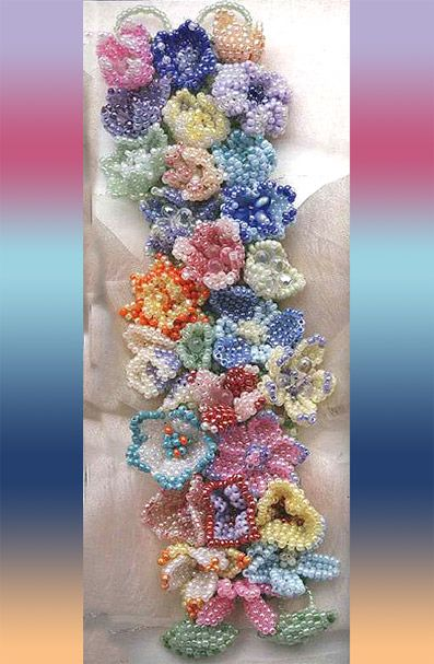 Flower Bracelet | biser.info - all about beads and beaded works