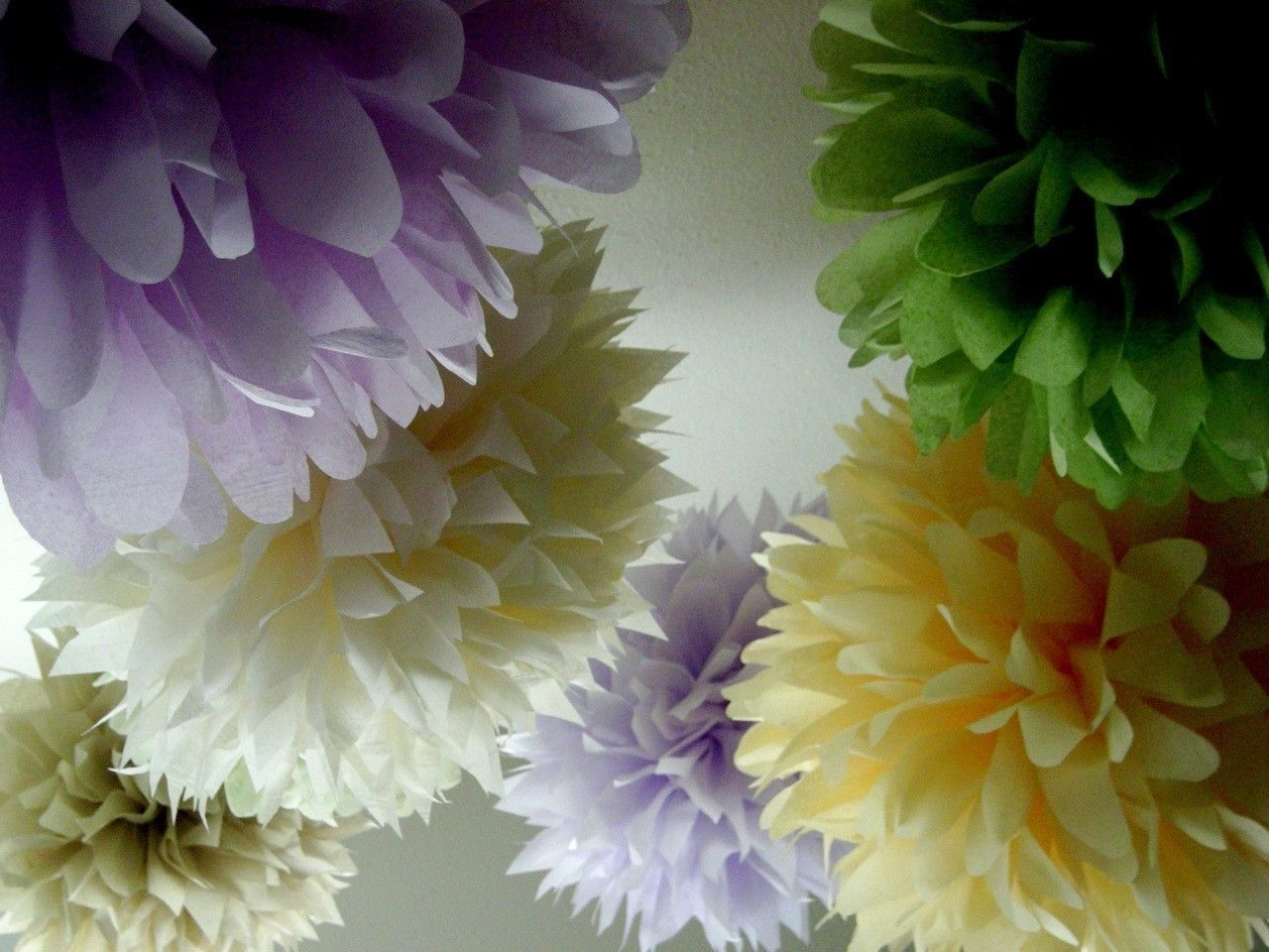 Wedding decorations using crepe paper  SPRING   tissue paper pom  wedding decor  easter  engagement