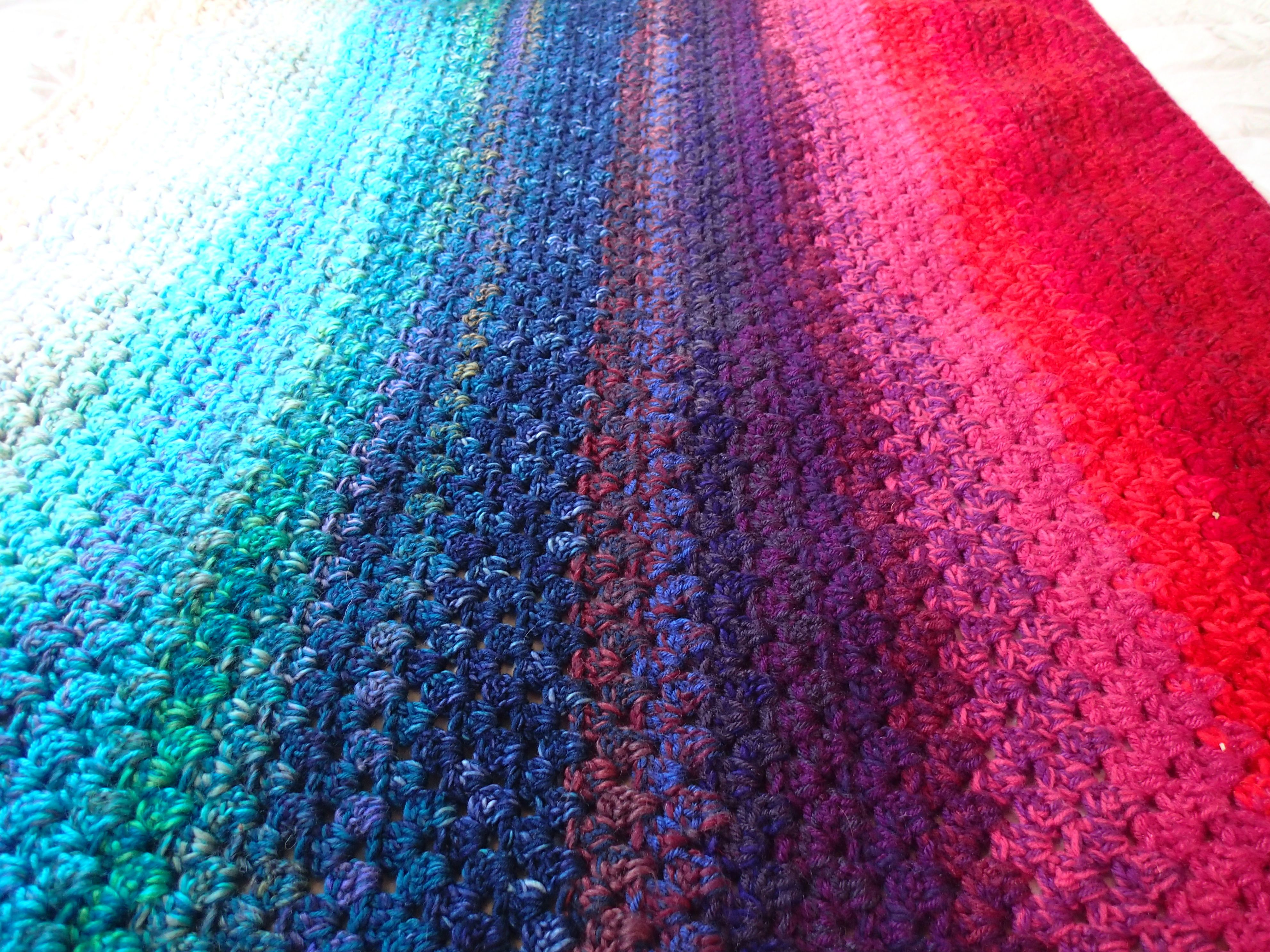 Use your yarn stash to create a northern light memory blanket a use your yarn stash to create a northern light memory blanket a free pattern from bankloansurffo Image collections