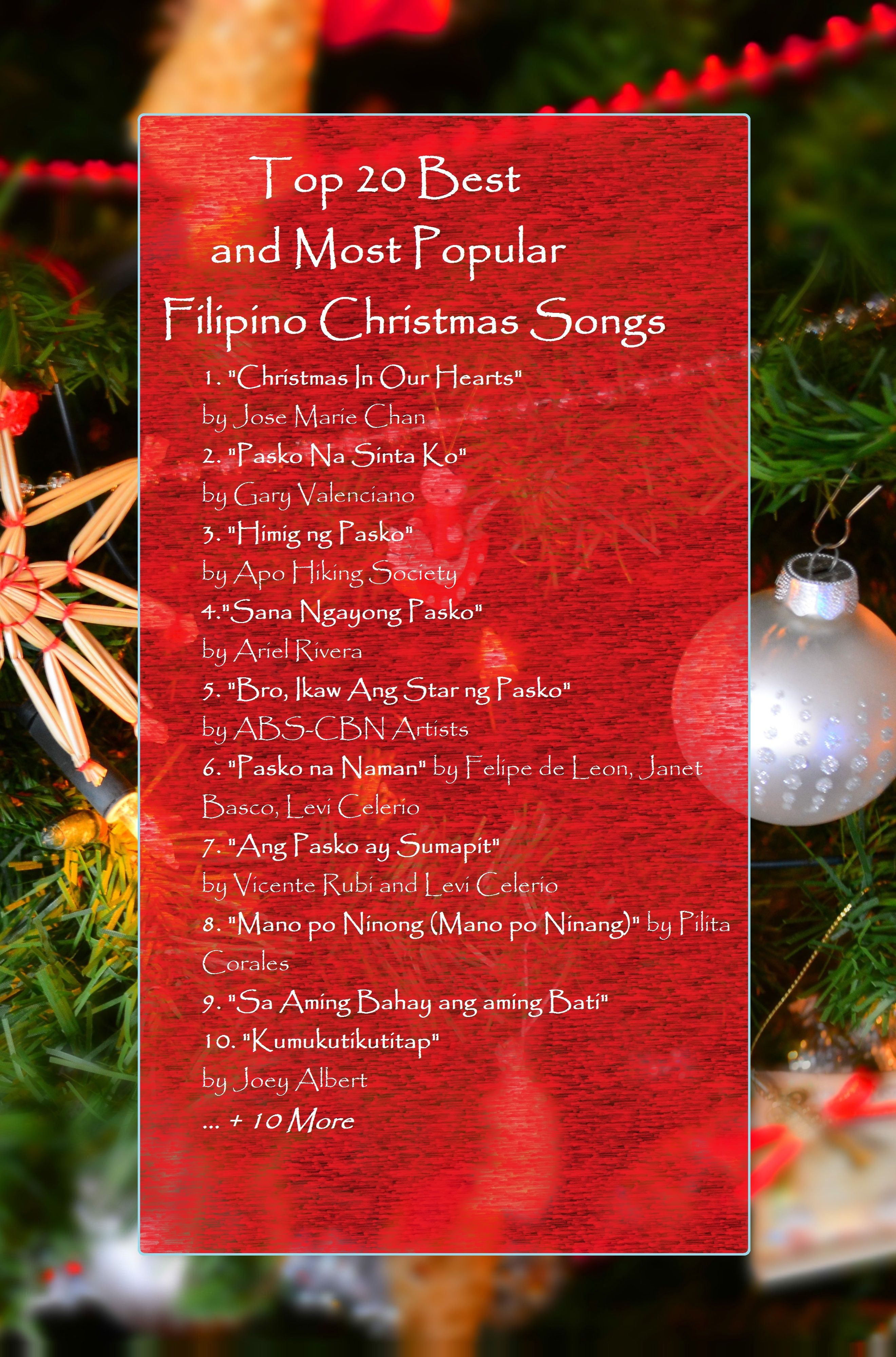 Top 20 Best and Most Popular Filipino Christmas Songs