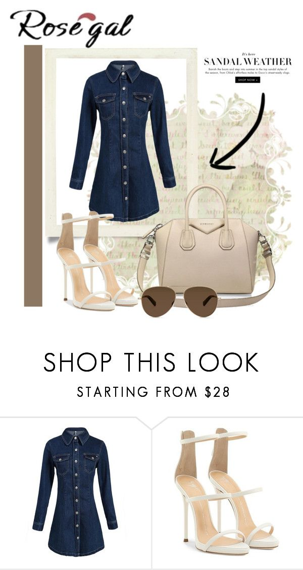 """""""ROSEGAL"""" by majlaso ❤ liked on Polyvore featuring Giuseppe Zanotti and Givenchy"""