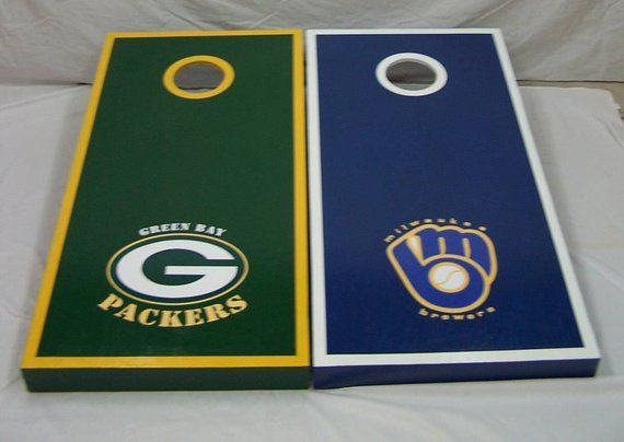 Brilliant Corn Hole Boards Green Bay Packers Milwaukee Brewers Gmtry Best Dining Table And Chair Ideas Images Gmtryco
