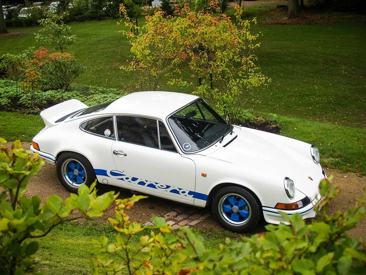 A 1973 porsche 911 carrera rs touring topped the recent porsche only auction held by silverstone auctions in the uk