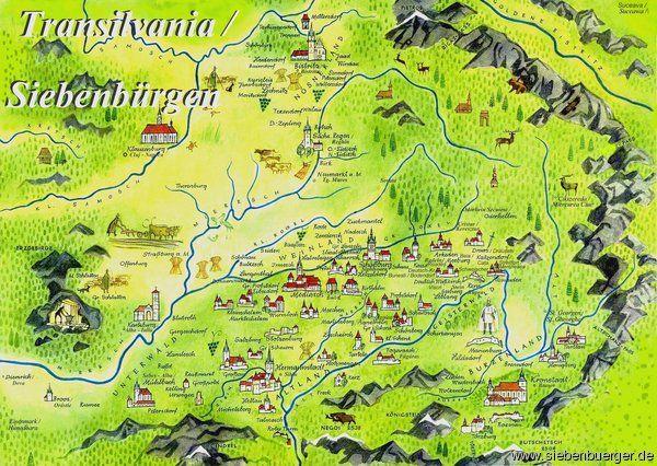 Landkarte Siebenburgen Mit Bildern Siebenburgen