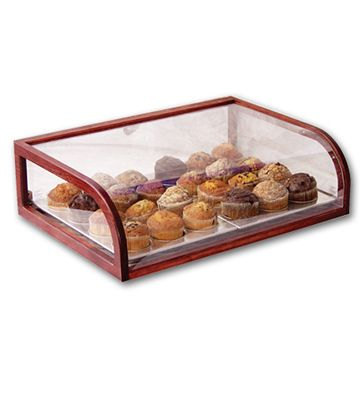 Wood Framed Countertop Pastry Case 28 L X 20 W X 8 H Pastry Display Cake Display Cafe Coffee Shop Decor