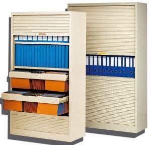 Rangement mobilier armoire de bureau avec rideaux horizontaux