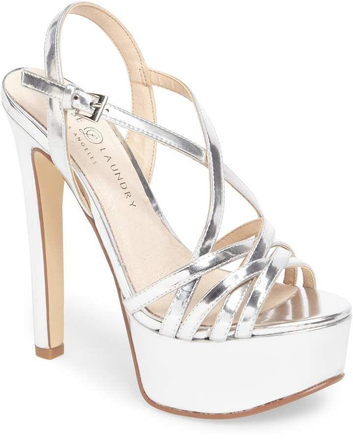 Women S Chinese Laundry Teaser2 Platform Sandal Size 9 M Brown Silver High Heel Shoes Silver Platform Shoes Fashion Heels