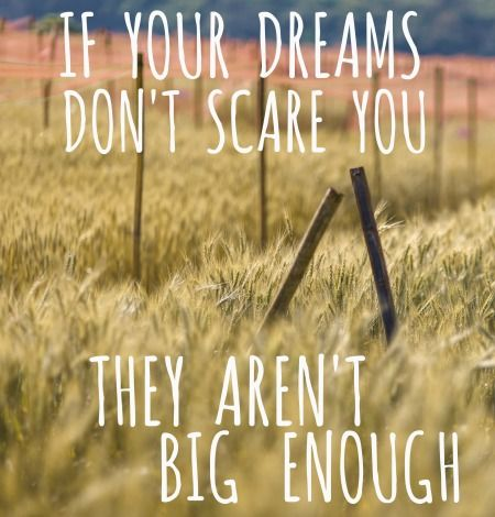 If your dreams don't scare you they aren't big enough meme