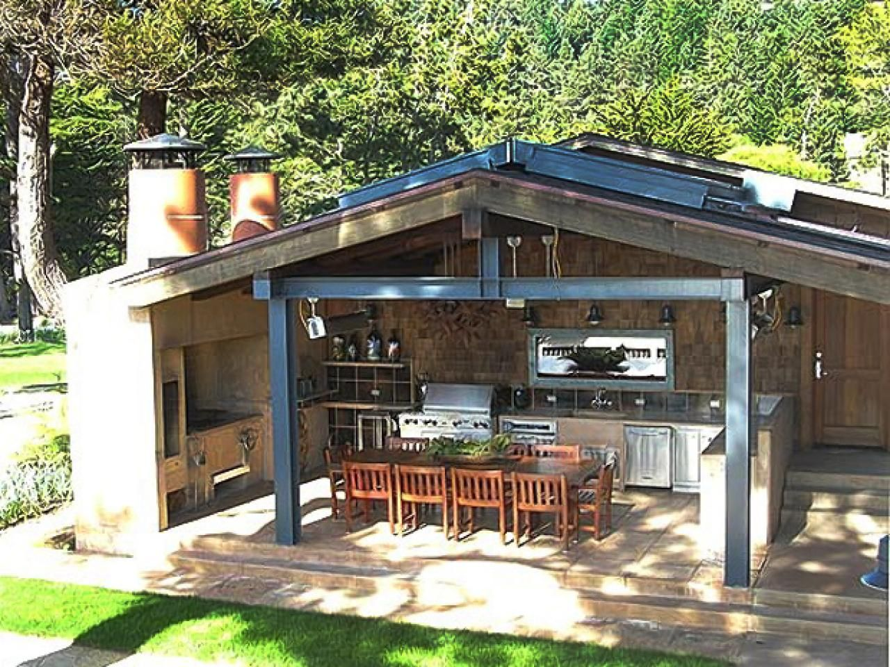 Outdoor kitchen cabinet ideas pictures tips expert for Easy outdoor kitchen designs