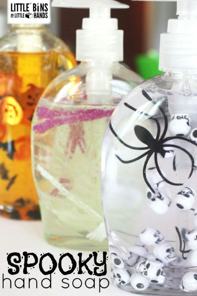 Halloween Soap Easy to Make Halloween Decoration Little Bins - how to make scary homemade halloween decorations