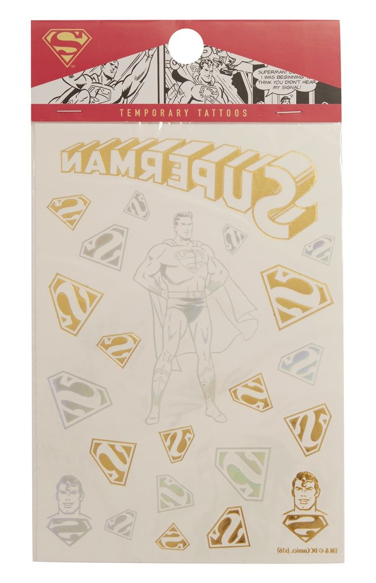 Superman Temporary Tattoos