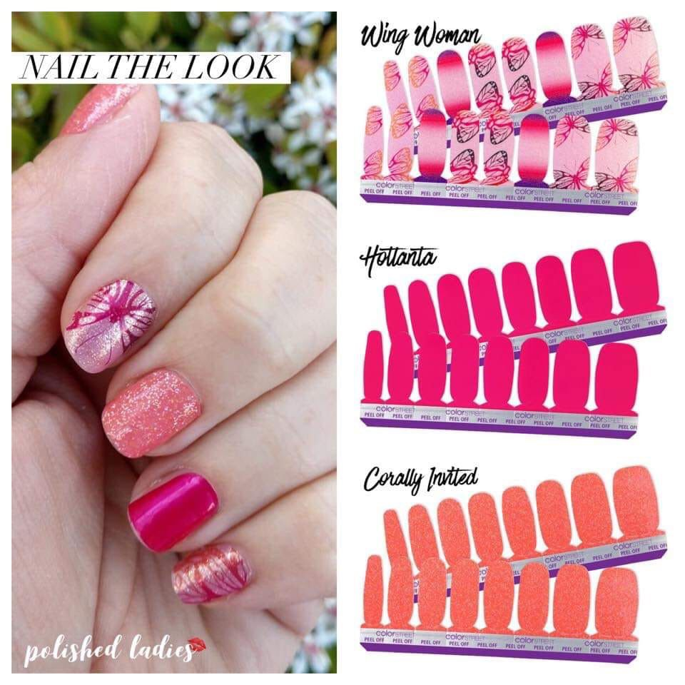 Beautiful Summer Or Spring Mani Done With Color Street Nail Strips