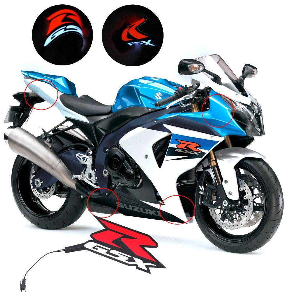 ZHANGAIGUO Motorcycle Light LED DIY Reflective EL Cold Light Sticker Fit For SUZUKI GSX-R GSXR 600//750//1000 K3 K4 K5 K6 K7 K8 K9 600CC-1000CC Color : Red