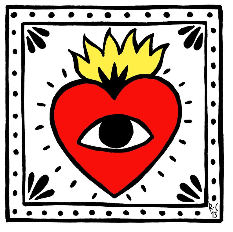 daf54b8775e8 THE FLAMING HEART WITH AN EYE It is about how to live. Live and do ...