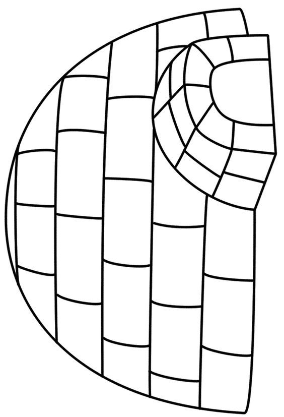 Igloo Coloring Page Coloring Pages Winter Igloo Craft Letter I